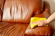 Химчистка (чистка) кожаного дивана